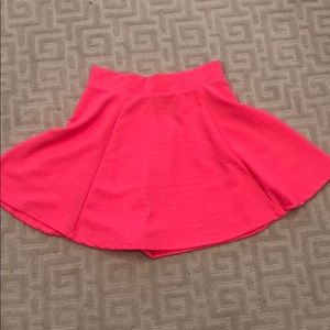 Hot pink H&M skater skirt
